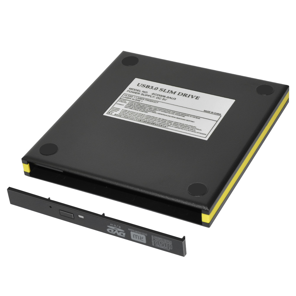 ECD008-SU3 USB 3.0 SATA External DVD Enclosuer with Classic series 12.7 mm