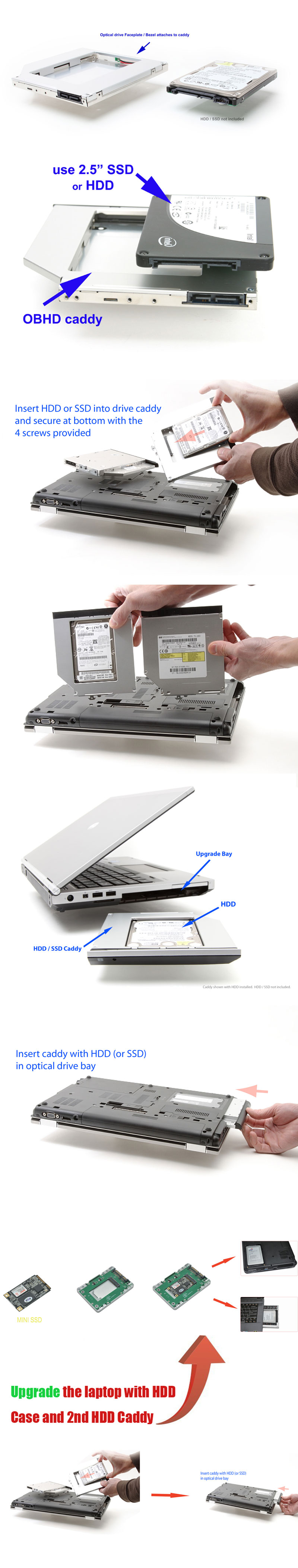 install step of 2nd hdd caddy