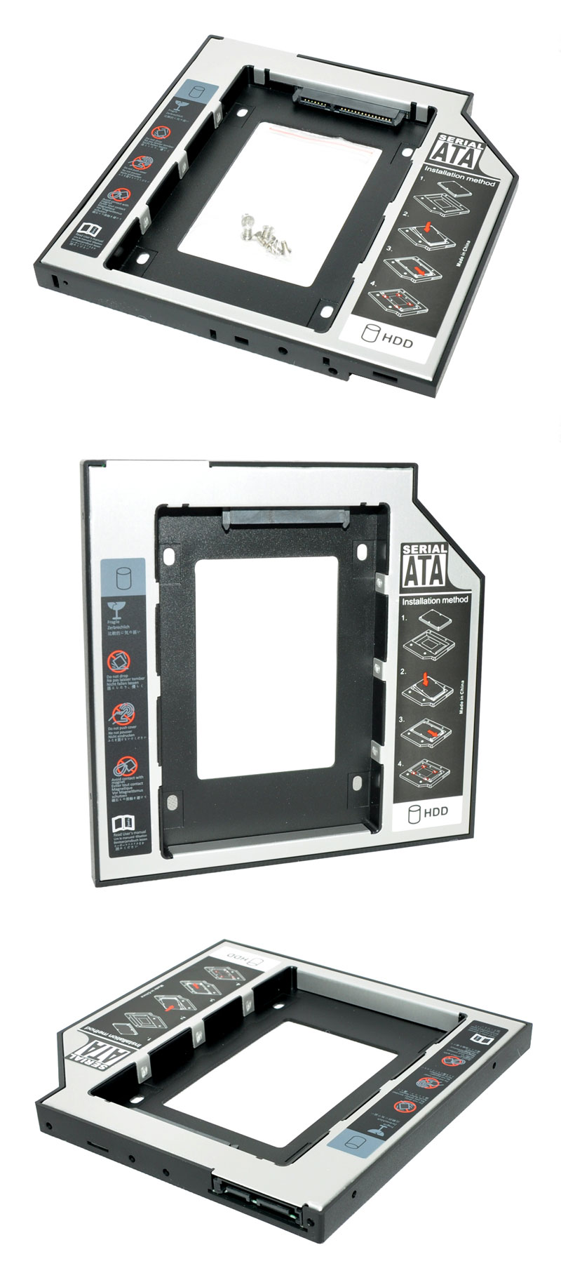 9.5mm SATA-SATA3 Universal  2nd HDD Caddy