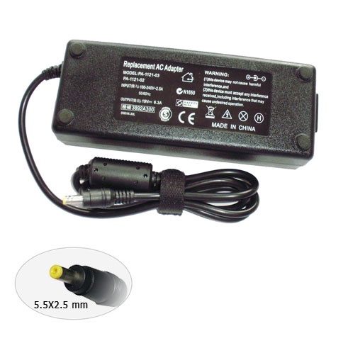 Laptop AC Adapter for ACER 19V 6.3A 120W 5.5X2.5mm yellow