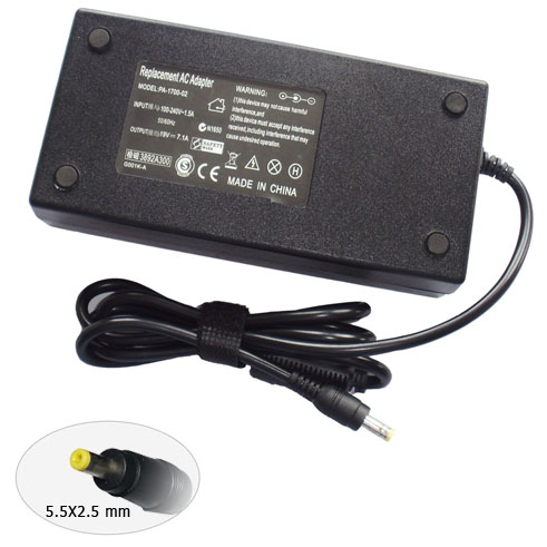 AC Adapter for ACER 19V 7.1A 135W 5.5X2.5mm yellow