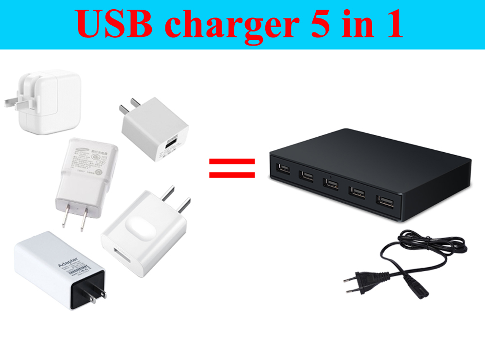 ES-65W5Q3 desktop 5 ports QC3.0 USB charger which use for the smart phone/ipad/laptop