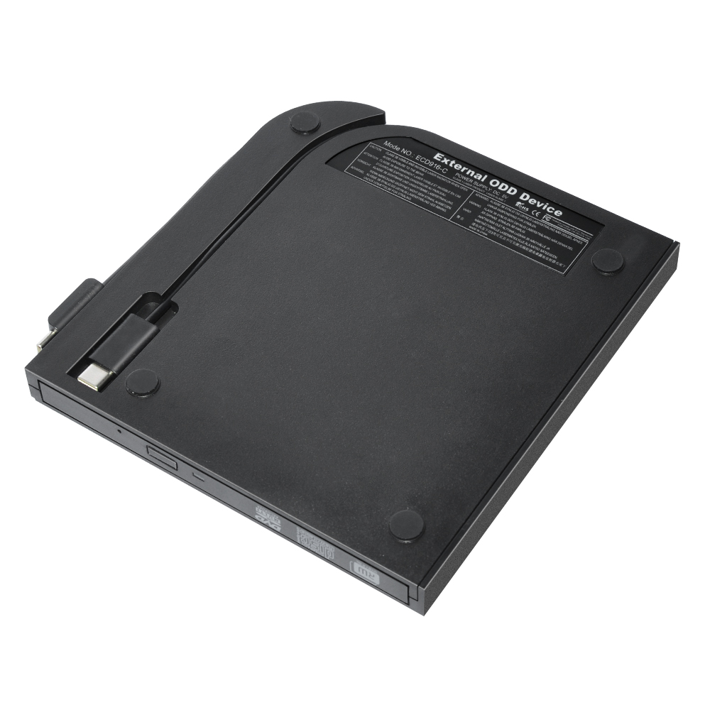 ECD916-C USB Type-C  TO  SATA  9.5mm SATA External DVD RW Enclosure