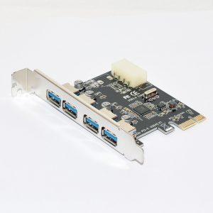 carte d'extension 4 ports USB 3.0 PCI-E x 1 pour PC