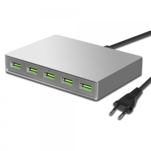 Adaptador de corriente USB de 5 puertos QC3.0 para 45W L-Tip MacBook