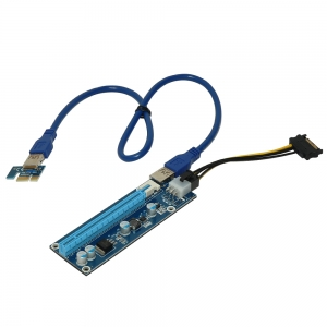 6PIN DC-DC USB3.0 PCI-E 1X to 16X BTC miner dedicated adapter