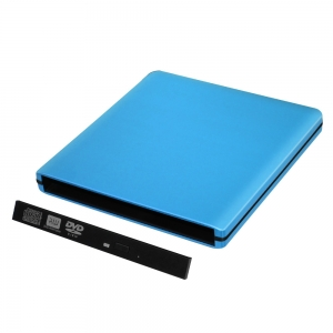 ODPS1203-SU3-Pop-up 12.7 mm USB 3.0 Alu externes DVD Case (blau)