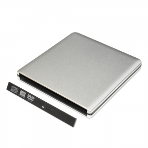 ODPS1203-SU3 Pop-up 12.7mm USB3.0 Aluminium External DVD Case (Silver)