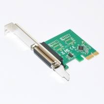 1-port Parallel (Printer, LPT1, DB25) PCI-E Controller Card with DOS Driver