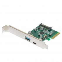 2-port PCI-E 4X to USB-C and USB3.0 Expansion Card