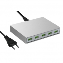 Adaptador de corriente USB de 5 puertos QC3.0 para 45W T-Tip MacBook