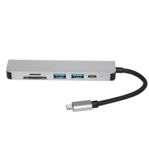 E-sun 6 in 1 Type c Hub Docking USB C Hub with UHD for Laptop