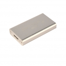 China ES-MSATA (Silver) 2.5 inch SATA HDD Enclosure factory