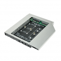 China HD1206-MN 2nd HDD Caddy With mSATA SSD Card and  NGFF SSD Card factory