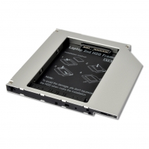 HD9503-SS 9.5mm SATA 2.5-inch 2nd HDD Caddy