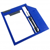 China HDS9001-SS 9.5mm Plastic Material 2nd HDD Caddy with Screwdriver(Blue) factory