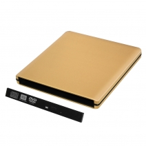 ODPS1203-SU3 Pop-up 12.7mm USB3.0 Aluminium External DVD Case (Gold)