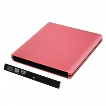 ODPS1203-SU3 pop-up da 12.7 mm USB 3.0 alluminio custodia DVD esterna (rosa)