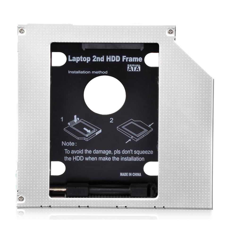 9.5 mm 2nd HDD Caddy mit Lampe und Schalter Built-in Schraubendreher ...